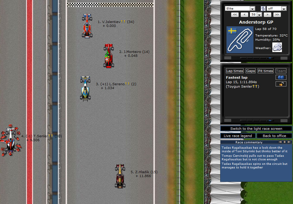 Grand Prix Online Browsergame Simulation