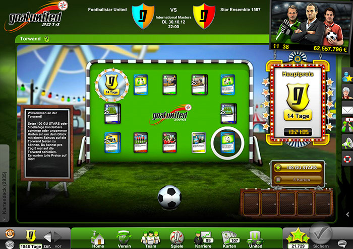Goalunited - kostenloses Browsergame - Review megagames.de